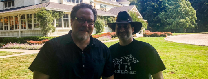 Jon Favreau spent Friday hanging out with Dave Filoni!