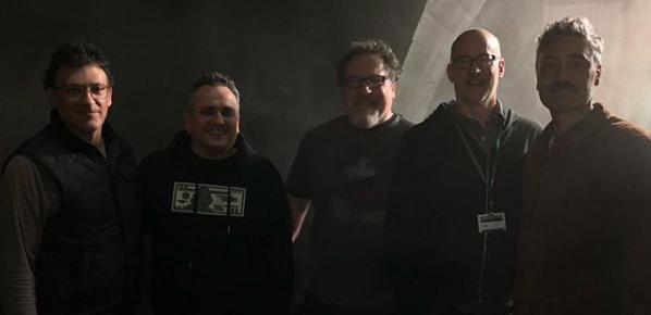 Jon Favreau hosted a mini MCU reunion on the set of TheMandalorian