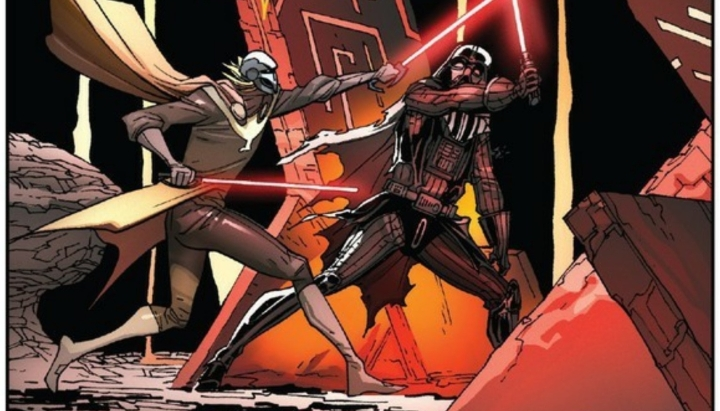 Penultimate Darth Vader comic features Sith battling Sith, holding different approaches to the Force