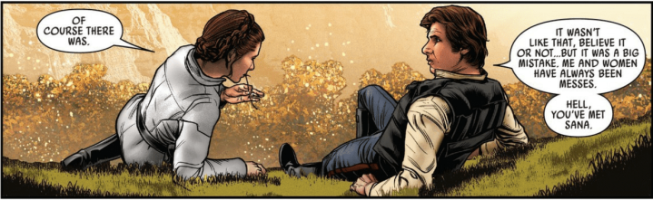 Latest Star Wars comic briefly references events of Solo as romance develops between Han andLeia