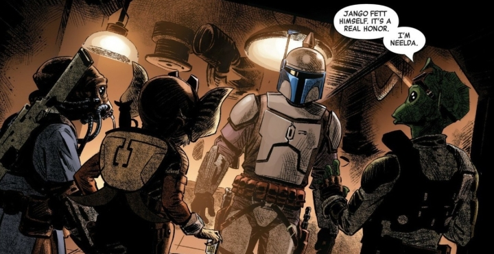 Age of Republic Jango Fett comic shows the bounty hunter meeting Count Dooku, training Boba