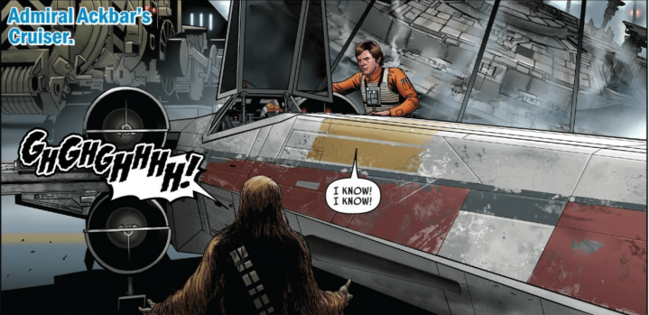 Han Solo once got in a dogfight with Darth Vader and then flew anX-Wing!