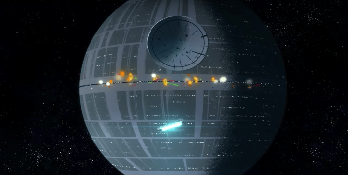 Latest Galaxy of Adventures short shows the Battle of Yavin from Han's perspective