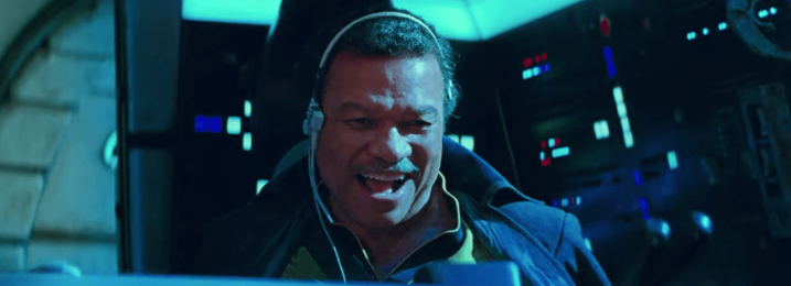 There's something very interesting about Lando Calrissian's outfit in The Rise of Skywalker