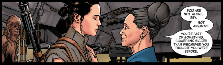 "The Rey ""Age of Resistance"" issue shows some incredible and touching conversations between Rey and Leia"