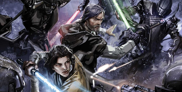 Preview of upcoming comic shows Luke Skywalker and Ben Solo fighting the Knights of Ren; drops major tidbits about Ben's rebellion!