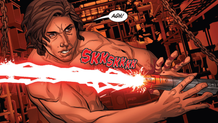 The Rise of Kylo Ren #4 shows Kylo Ren bleeding his lightsaber crystal