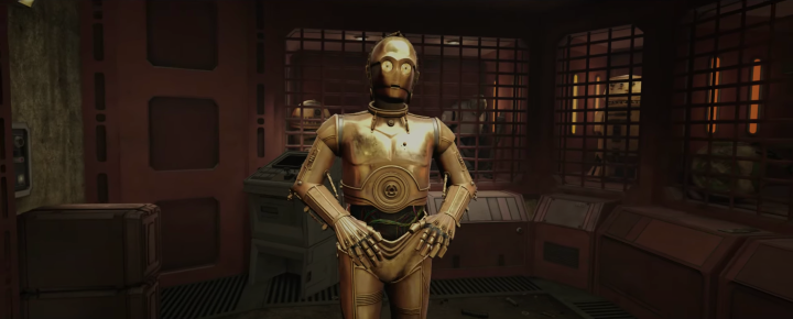 Anthony Daniels returns as C-3PO in Tales from the Galaxy's Edge VRexperience