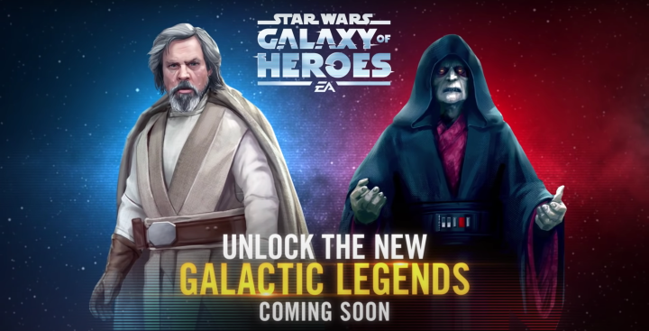 Star Wars Galaxy of Heroes: Kits revealed for Jedi Master Luke Skywalker and Sith Eternal Emperor