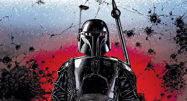 Boba Fett to star in a huge new Star Wars comic crossover series, War of the BountyHunters!