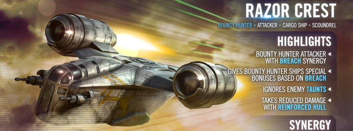 The Razor Crest and a brand new game mode are coming to Star Wars: Galaxy of Heroes!