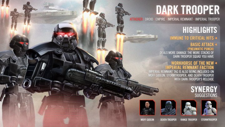 The Dark Trooper has arrived in Star Wars: Galaxy of Heroes!