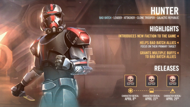 The Bad Batch is coming to Star Wars: Galaxy ofHeroes!