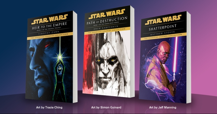 Three classic Star Wars Legends novels are being re-released, with more to come in thefuture!