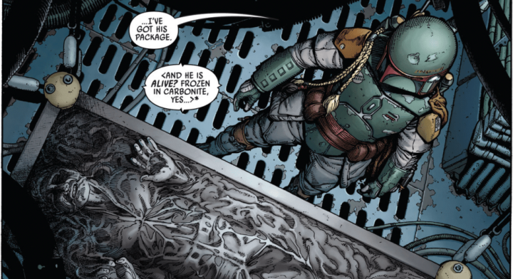 The War of the Bounty Hunters begins in latest comic, setting in motion the chase for HanSolo!