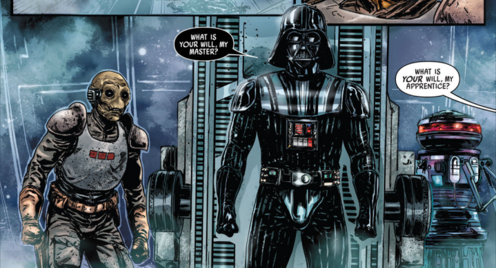 A re-built Darth Vader and Ochi of Bestoon join the hunt for HanSolo