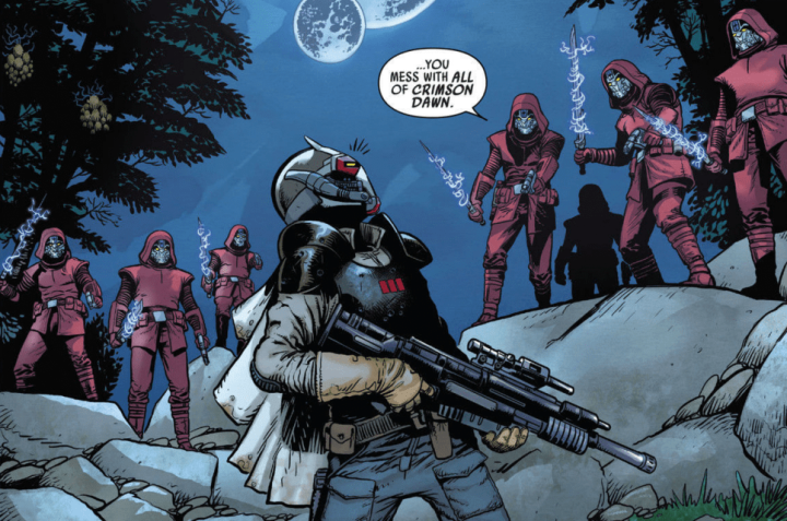 Star Wars: War of the Bounty Hunters: Ochi of Bestoon learns more about Crimson Dawn in Darth Vader#15