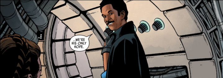Star Wars: War of the Bounty Hunters: Lando Calrissian shows he's a hero that's right for the Rebellion in Star Wars#17